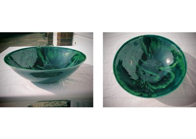 Chris Stewart - Dark and Light Green Bowl