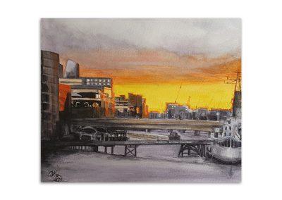 Debbie Peaty - Thames Sunset
