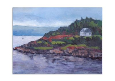 Jacqueline Bartle - White House on the Scottish Island