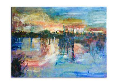 Steve Clayton - Broomfield Park Sunset Over Lake